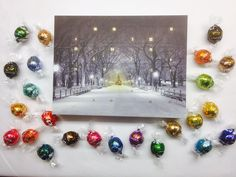 A deluxe advent calendar with 24 different flavours of Lindt chocolate!