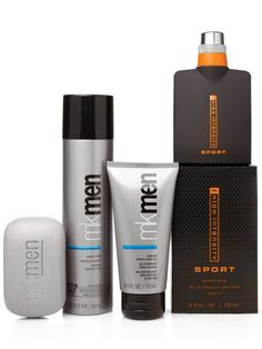 Skin-loving products with a super sporty cologne create the ultimate gift for the ultimate guy. It's sure to dazzle him! Set includes: MKMen® Face Bar MKMen® Shave Foam MKMen® Cooling After-Shave Gel MK High Intensity™ Sport Cologne Spray
