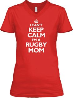 Calm Rugby Mom V-Neck