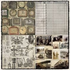 Set de 36 papeles de Scrapbooking Destinations de Tim Holtz