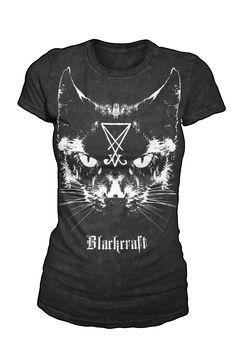 Lucifer The Cat - Women's Tee   Black Craft