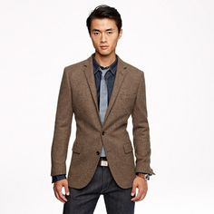 Ludlow sportcoat in harvest herringbone English wool/