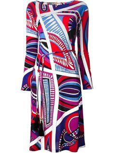 EMILIO PUCCI Pattern Print Shift Dress