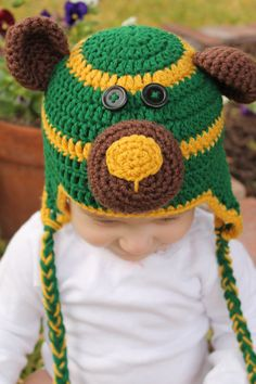 Handmade #Baylor Bears crochet hat. So adorable!