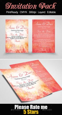 Flora wedding pack photoshop psd number customizable flora wedding pack photoshop psd number customizable available here httpsgraphicriveritemflor wedding invitation template design stopboris Images