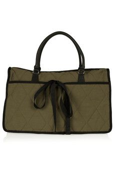Marni - Quilted cotton and leather shoulder bag