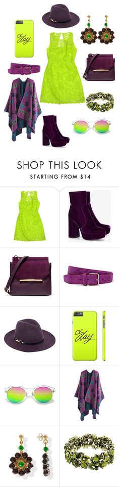 """""""Purple and green"""" by katnip1240-1 ❤ liked on Polyvore featuring Laundry, Prada, Halston Heritage, Acne Studios and Monsoon"""