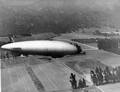 """U.S. Navy blimp over Beverly Hills"""