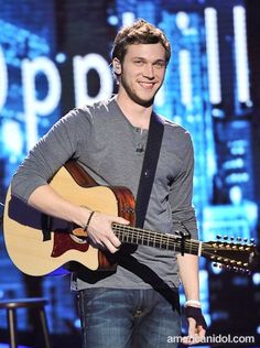 Phillip Phillips... #10 and my newest addition to my own personal famous list of hot guys I GET to hook up with!! :)  When he sings it makes me want to kiss him!! lol
