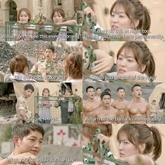 Descendants Of The Sun... That moment when you wave away SJK to stare at other hot guys.