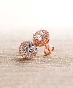a4a0a5b47 Golden NYC 18k Rose Gold-Plated Halo Stud Earrings With Swarovski® Crystals  | zulily