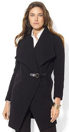 Love the simplicity of this beautiful wool coat from Macy's.