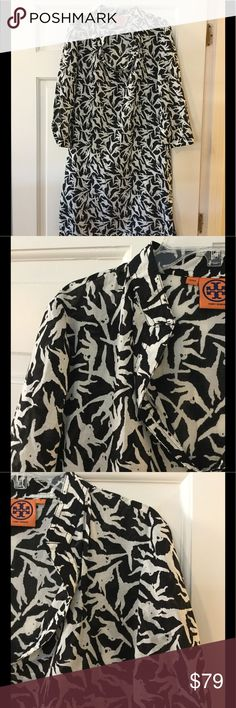 """Tory Burch monkey tunic dress Side zip entry. 100% cotton. Dry clean.  Underarm across 19.5"""". Length 35"""".  Excellent condition. EUC.  Smoke free and pet free. Tory Burch Dresses"""
