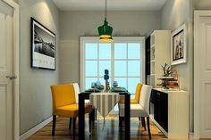 12 yellow dining room
