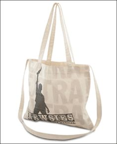 "This souvenir bag is perfect for toting your daily papers and Features quotes from the play including ""Seize the Day"" and ""The World Will Know."" Measures 16 by 14 inches. 100 cotton.DISNEY'S NEWSIES 1"
