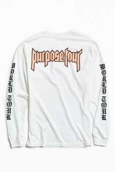 0caa26fd5a5b UrbanOutfitters Justin Bieber Purpose Tour Long-Sleeve Tee Found on my new  favorite app Dote Shopping