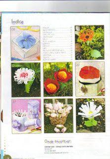 Flores em E.V.A. / PET / Meias de Seda: revista de flores n°2 flores sem frisador