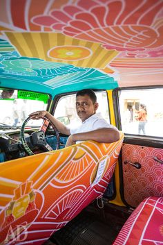 Safomasi's Bombay Deco Taxi Fabric for Architectural Digest India