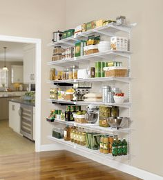 pantry storage awe-inspiring wire shelving for pantry with stainless steel large kitchen bowls on adjustable wall shelf mounting brackets ~ kitchen pantry ideas