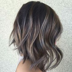 Balayage is an advanced technique to make your hair shiny and refreshing. From natural hair to rainbow hair colors, find the best balayage hair color for yourself right now! Ash Brown Hair Color, Ombre Hair Color, Hair Color Balayage, Brown Lob, Dark Brown, Ash Balayage, Dark Grey, Subtle Balayage, Balayage Highlights
