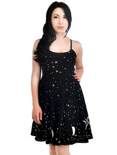 """Women's """"Phase The Moon"""" Spell Dress by Too Fast (Black) - 2"""