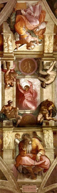 Sistine Chapel (detail) Circa 1512 -- Michelangelo -- Italian -- Fresco -- Sistine Chapel, Vatican City