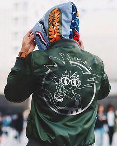 Goku Bomber. Shenron Approves. #modernnotoriety @kurt_art