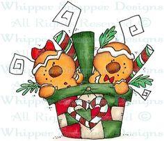 Gingerbread Basket - Christmas Images - Christmas - Rubber Stamps - Shop