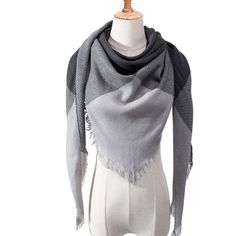 2019 cashmere scarf for women autumn winter shawls wraps neck warm headscarf blanket triangel pashmina bandana foulard femee Bandana, Tartan, Cashmere Shawl, Plaid Fashion, Fashion Scarves, Style Fashion, Triangle Scarf, Pashmina Scarf, Plaid Scarf