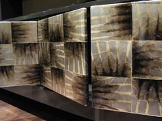 Robert Odea, No.16 Lacquered Tinted Silver Leaf Cabinet Doors