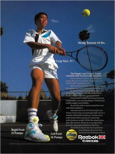 Reebok Court Victory Pump Tennis Shoes (as seen on Michael Chang)
