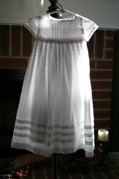 Blessing dress @Debra Eskinazi Stockdale Phelps- I love the swiss-dot cotton!