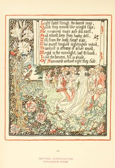 Walter Crane. Queen Summer, or the Tourney of the Lily & the Rose
