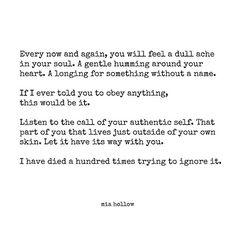 Luister naar dat zachte stemmetje in jezelf.