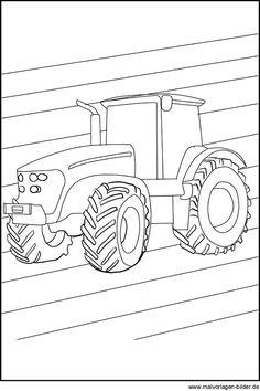 traktor schubkarre | mandala malvorlagen