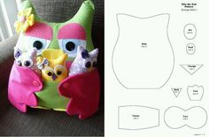 Bayankuş ve bebişleri Stuffed Animals, Sewing Crafts, Sewing Projects, Pin Cushions, Pillows, Owl Fabric, Felt Owls, Owl Patterns, Creation Couture
