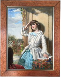 Young Beauty Antique Oil Painting circle of Augustus Leopold Egg R.A. (1816-1863