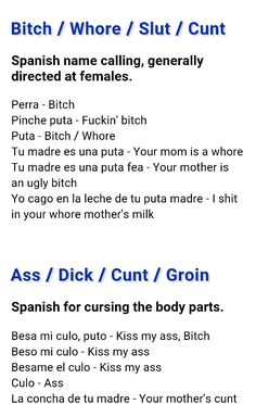 Spanish curse words