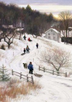 Winter Art by Robert Duncan Winter Szenen, I Love Winter, Winter Time, Robert Duncan Art, Winter Illustration, I Love Snow, Winter Painting, Snow Scenes, Winter Pictures