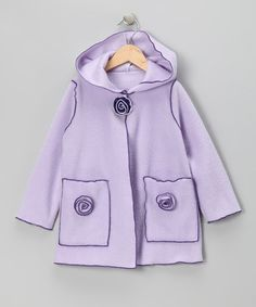 Take a look at this Kid Fashion Lilac Flower Fleece Jacket - Infant, Toddler & Girls by Kid Fashion on #zulily today!