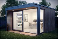 Mini Pod is another great solution for those working from home. The garden office measures 4.1 x 3.65m (13.4 x 11.9 feet) and is the ideal solution for home workers. The pod can be customized with options including additional windows, under floor heating, fitted desks, shelving and decking.  Re-Pinned by www.norfolkoak.com