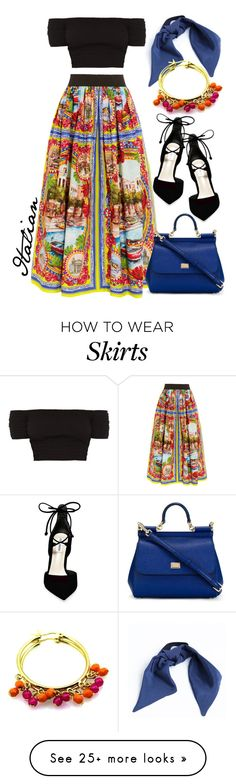 """Italian skirt"" by alisa1987 on Polyvore featuring Dolce&Gabbana, Gina Made It, Steve Madden and ITALIAN"