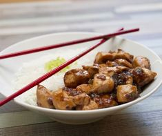 Gyömbéres csirkemell jázmin rizzsel Recept képpel - Mindmegette.hu - Receptek Almond, Cereal, Lunch, Beef, Chicken, Breakfast, Ethnic Recipes, Food, Kitchen