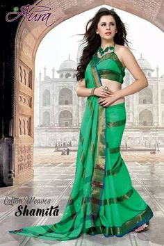 SOLD OUT code:ed green Price:2999/- New Catalogue, Happy Shopping, Blouse Designs, Cool Designs, Weaving, Silk, Elegant, Formal Dresses, Cotton