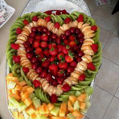 Fruit platter for bridal party