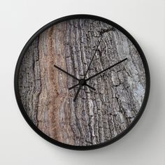 Wall Clock • 'Bark' • IN STOCK • $30.00 • Go to the store by clicking the item. Wall Clock Frame, Unique Wall Clocks, Natural Wood, Crystals, Store, Art, Art Background, Storage, Crystals Minerals