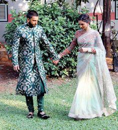 10 Bollywood Couples That Made 2015 a Very Difficult Year for Singles All Over Bollywood Couples, Bollywood Celebrities, Bridal Lehenga, Saree Wedding, Couple Wedding Dress, Wedding Dresses, Indian Dresses, Indian Outfits, Deepika Padukone Saree
