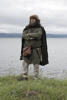 Viking man surveying the land. Trondheim Viking Market. Photo by Julie Brauteset Henning.