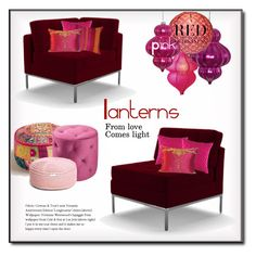 Pink Red By Liked On Polyvore Featuring Interior Interiors Design Home Decor Decorating Joybird Cost Plus World Market