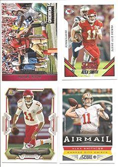 Alex Smith Kansas City Chiefs (4) Card Football Lot - (7) *** Visit the image link more details.